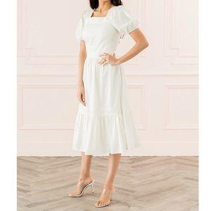Rachel Parcell puff sleeve Midi dress